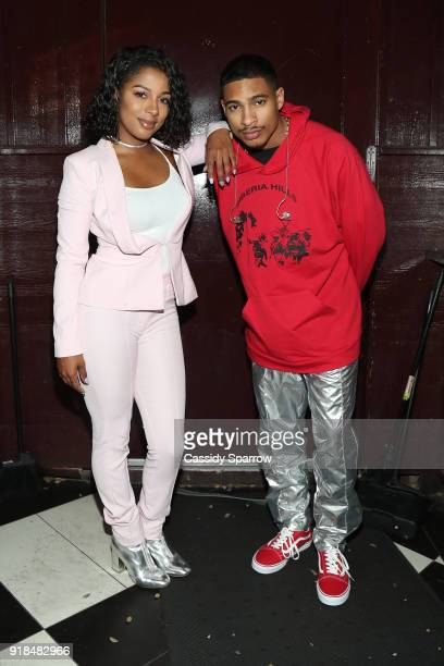 Victoria Monet and Arin Ray Attend Valentine's Day Performance at The Peppermint Club on February 14 2018 in Los Angeles California