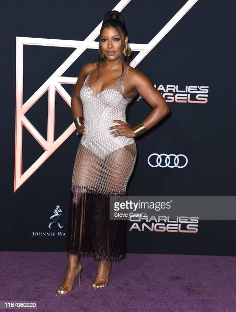 Victoria Monet arrives at the Premiere Of Columbia Pictures' Charlies Angels at Westwood Regency Theater on November 11 2019 in Los Angeles California