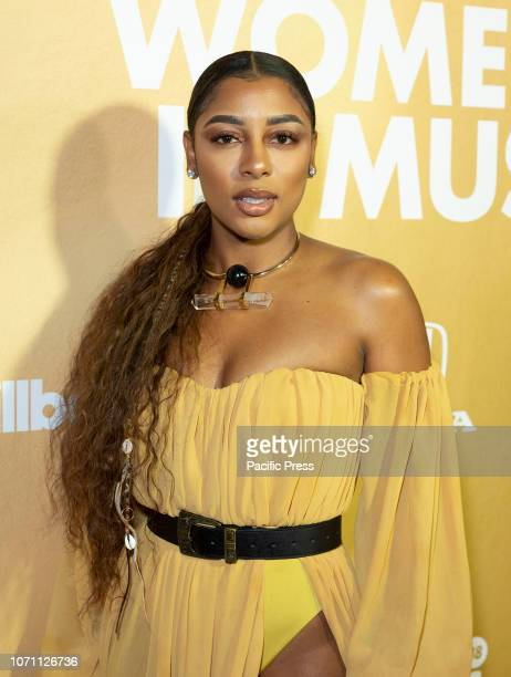 Victoria Monet attends Billboard's 13th Annual Women in Music gala at Pier 36
