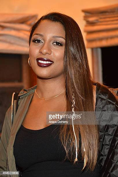 Victoria Monet attends her album listening party For Nightmares And Lullabies at Victorian Castle on October 28 2014 in Los Angeles California