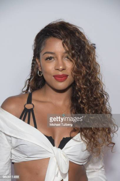 Victoria Monet attends Nights Of Freedom LA hosted by Unlikely Heroes at W Hollywood on June 21 2018 in Hollywood California