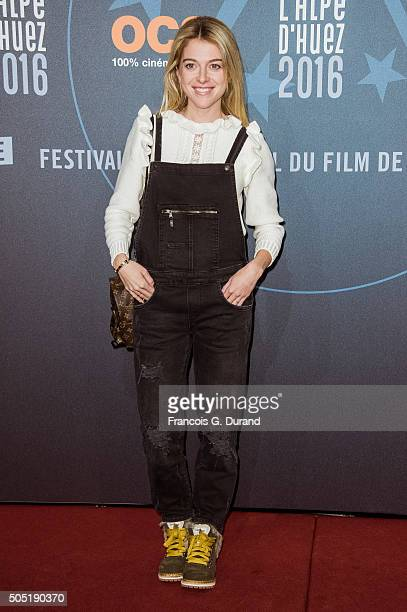 Victoria Monfort attends the 18th L'Alpe D'Huez International Comedy Film Festival on January 15 2016 in Alpe d'Huez France