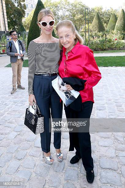 Victoria Niarchos and Doris Brynner arriving at the Christian Dior show as part of the Paris Fashion Week Womenswear Spring/Summer 2014 held at Musee...