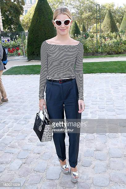 Victoria Niarchos arriving at the Christian Dior show as part of the Paris Fashion Week Womenswear Spring/Summer 2014 held at Musee Rodin on...