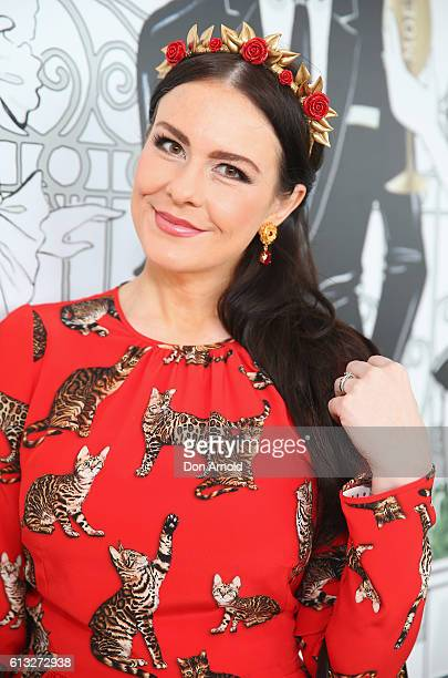 Victoria Novak attends Spring Champion Stakes Day at Royal Randwick Racecourse on October 8 2016 in Sydney Australia