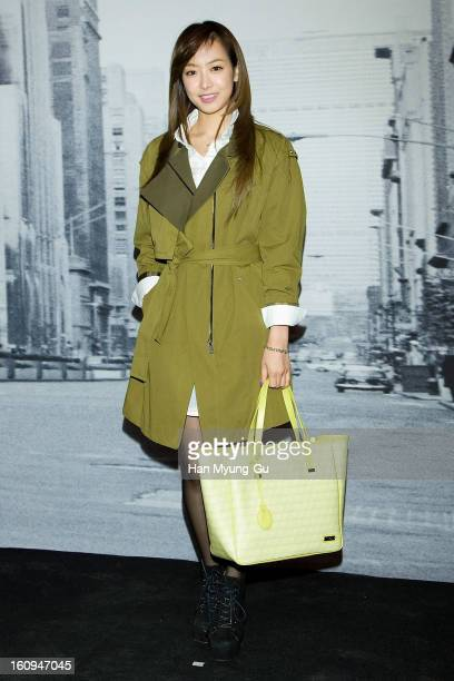 Victoria of girl group f attends a promotional event for the 'Samsonite RED' Launching on February 7 2013 in Seoul South Korea