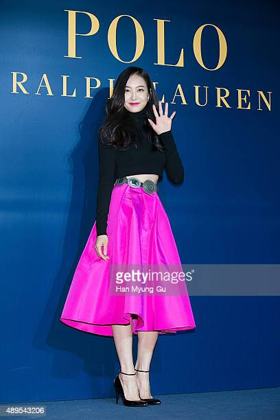 Victoria of girl group f attends the launch party for 'Polo Ralph Lauren' Shinsa Store Opening on September 22 2015 in Seoul South Korea