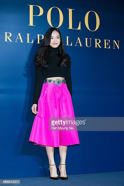 Victoria of girl group f attends the launch party for 'Polo Ralph Lauren' Shinsa Store Opening on September 22, 2015 in Seoul, South Korea.