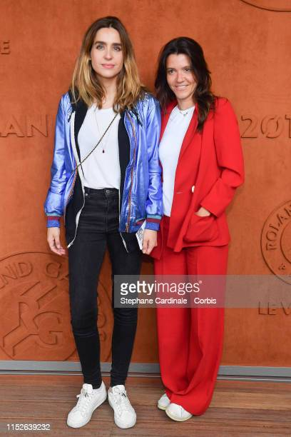 Victoria Olloqui and Hortense d'Esteve attend the 2019 French Tennis Open Day Five at Roland Garros on May 30 2019 in Paris France