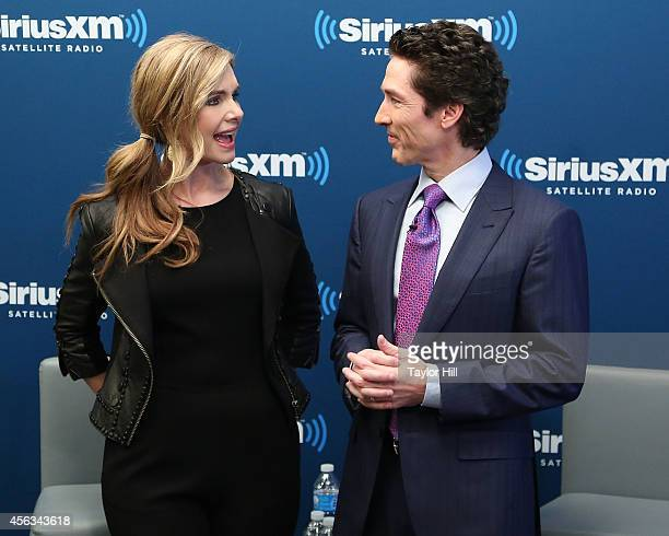 Victoria Osteen and Joel Osteen launch Joel Osteen Radio at SiriusXM Studios on September 29 2014 in New York City