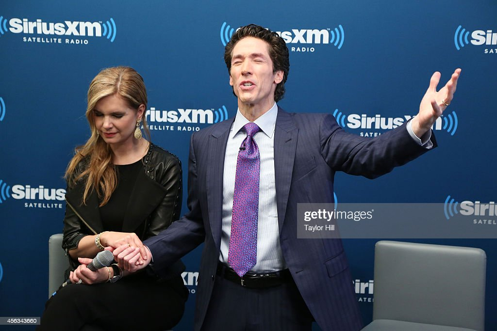 Victoria Osteen and Joel Osteen launch Joel Osteen Radio at SiriusXM Studios on September 29, 2014 in New York City.