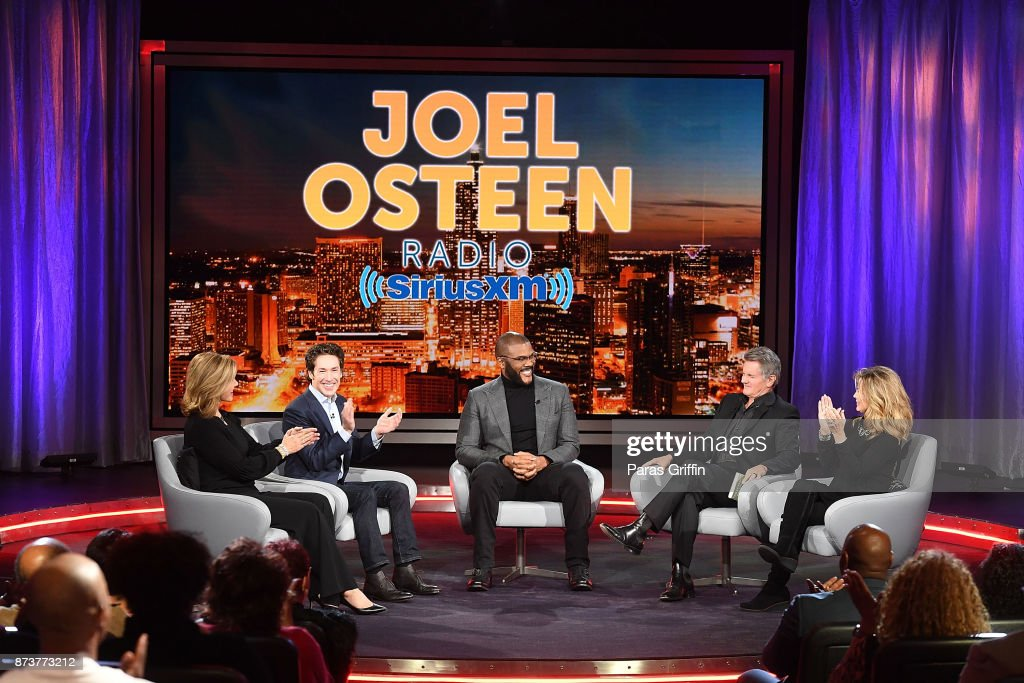 Actor, Comedian Tyler Perry Sits Down For SiriusXM's Town Hall Event Hosted By Joel & Victoria Osteen : News Photo