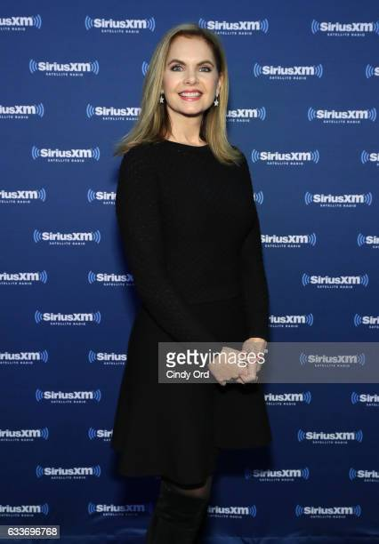 Victoria Osteen visits the SiriusXM set at Super Bowl LI Radio Row at the George R Brown Convention Center on February 3 2017 in Houston Texas