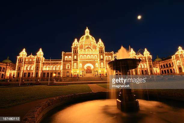Victoria Parliment Building at Night