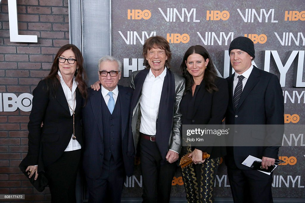 Victoria Pearman, Martin Scorcese, Mick Jagger, Emma Tillinger Koskoff and Rick Yorn attend the New York Premiere of 'Vinyl' at Ziegfeld Theatre on January 15, 2016 in New York City.