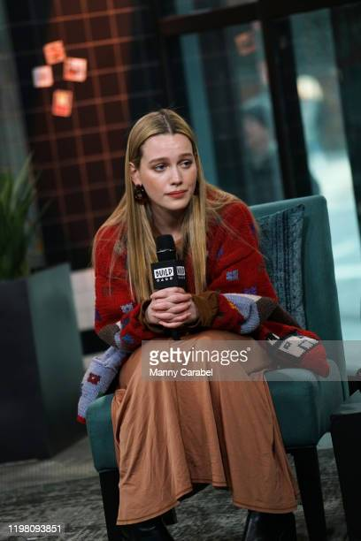 Victoria Pedretti attends Build Series to discuss her role on the new series 'You' at Build Studio on January 07 2020 in New York City