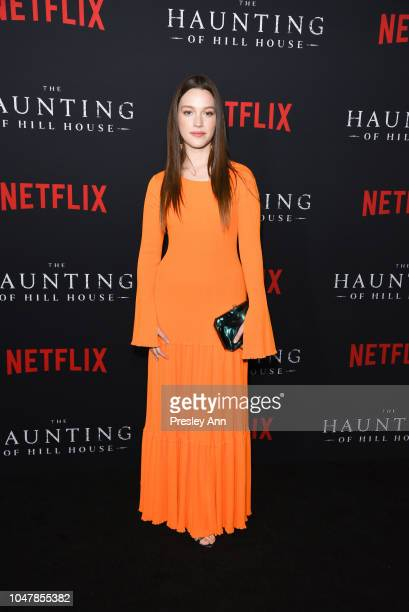 Victoria Pedretti attends Netflix's The Haunting Of Hill House Season 1 Premiere Arrivals at ArcLight Hollywood on October 8 2018 in Hollywood...