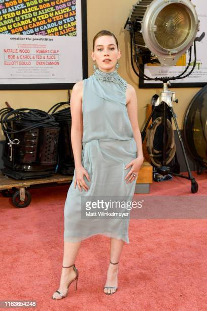 Victoria Pedretti attends Sony Pictures' Once Upon A TimeIn Hollywood Los Angeles Premiere on July 22 2019 in Hollywood California