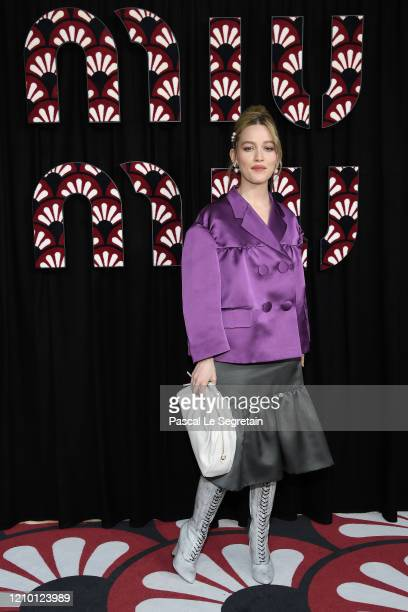 Victoria Pedretti attends the Miu Miu show as part of the Paris Fashion Week Womenswear Fall/Winter 2020/2021 on March 03 2020 in Paris France