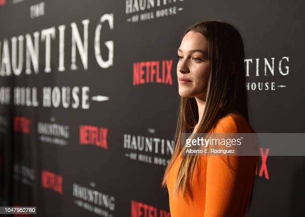 Victoria Pedretti attends the premiere of Neflix's The Haunting Of Hill House at ArcLight Hollywood on October 8 2018 in Hollywood California