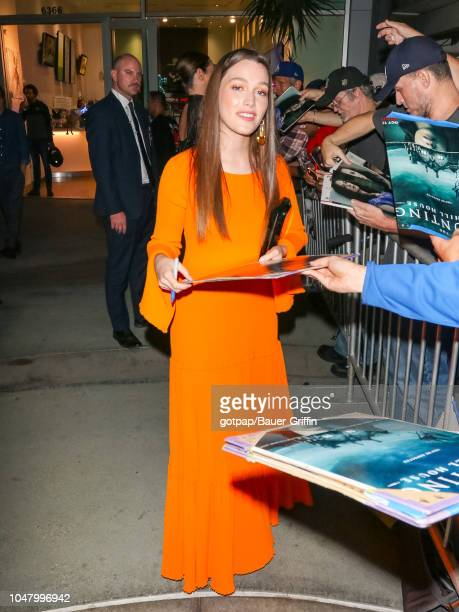 Victoria Pedretti is seen on October 08 2018 in Los Angeles California