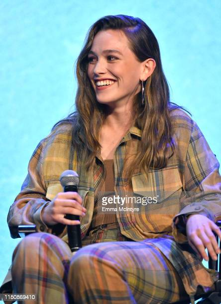 Victoria Pedretti speaks onstage at the Netflix FYSEE Event for Haunting of Hill House at Raleigh Studios on May 21 2019 in Los Angeles California
