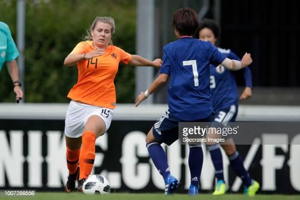Victoria Pelova of Holland Women U20, Hinata Miyazawa of Japan Women U20 during the match between Holland Women U20 v Japan Women U20 at the...