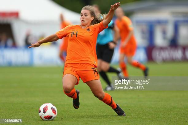 Victoria Pelova of Netherlands in action during the FIFA U20 Women's World Cup France 2018 group A match between Netherlands and France at Stade de...