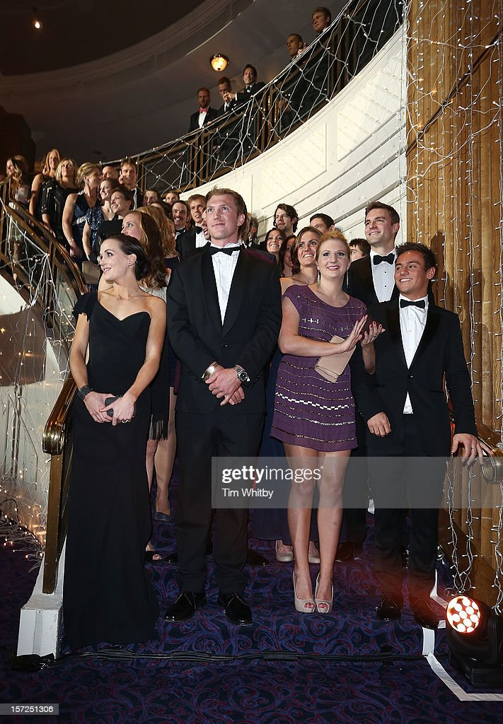 Victoria Pendleton, Alex Gregory, Rebecca Adlington and Tom Daley attend the British Olympic Ball at the Grosvenor House Hotel on November 30, 2012 in London, England.