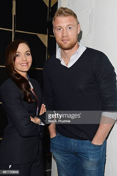 Victoria Pendleton and Andrew Flintoff appear as special guests during day one of Advertising Week Europe at BAFTA 195 Piccadilly Venue on March 31...
