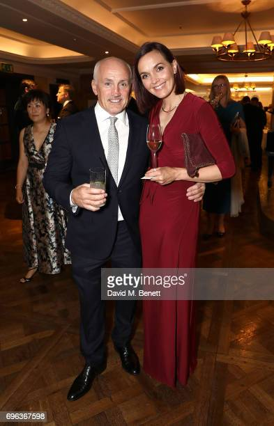 Victoria Pendleton and Barry McGuigan attend the Highclere Thoroughbred Racing Royal Ascot Dinner at Fortnum Mason on June 15 2017 in London England