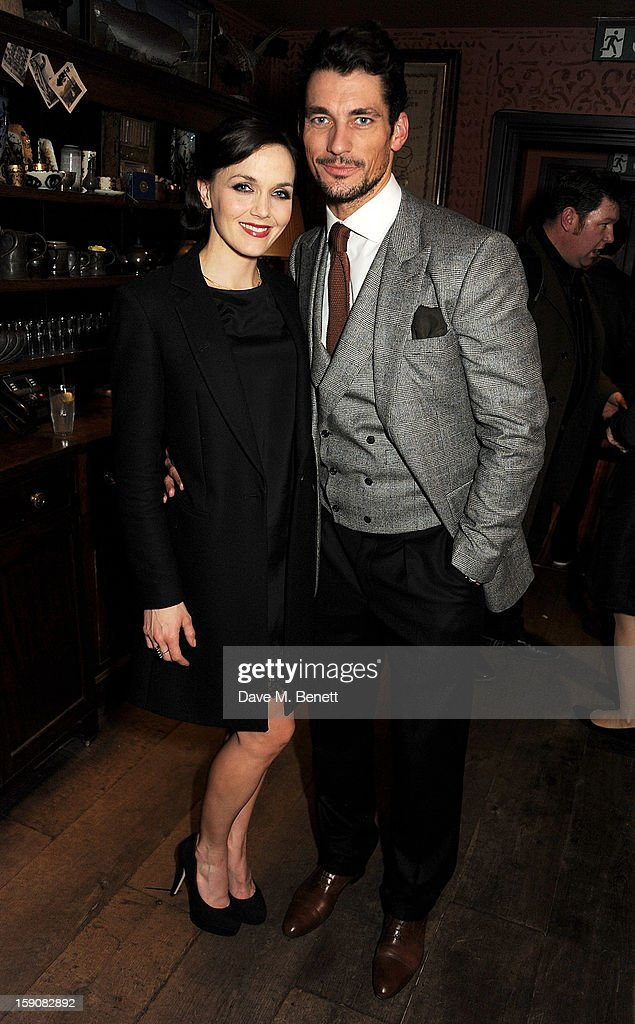 Victoria Pendleton (L) and David Gandy attend the Esquire and Tommy Hilfiger party celebrating London Collections: MEN AW13, hosted by Esquire editor Alex Bilmes and Tommy Hilfiger, at the Zetter Townhouse on January 7, 2013 in London, England.