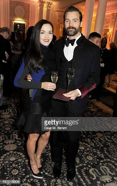 Victoria Pendleton and Patrick Grant attend a drinks reception at the British Fashion Awards 2012 at The Savoy Hotel on November 27 2012 in London...