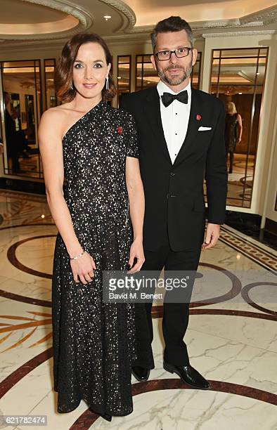Victoria Pendleton and Scott Gardner attend The Cartier Racing Awards 2016 at The Dorchester on November 8 2016 in London England