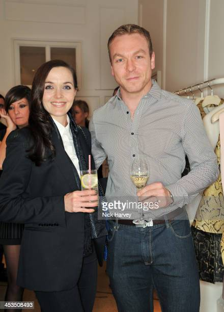 Victoria Pendleton and Sir Chris Hoy attend as the Christmas lights are switched on at Stella McCartney on December 4 2013 in London England