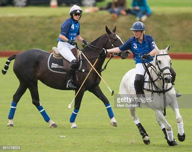 Victoria Pendleton and Zara Phillips take part in the Gloucestershire Festival of Polo at Beaufort Polo Club on June 19 2016 in Tetbury England