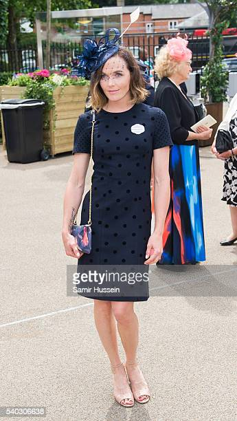 Victoria Pendleton arrives for day 2 of Royal Ascot at Ascot Racecourse on June 8 2016 in Ascot England