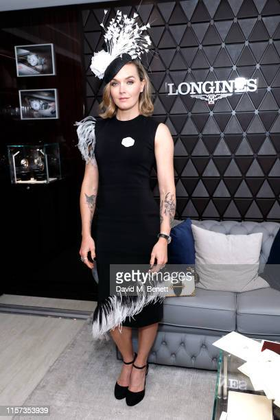 Victoria Pendleton attends Longines host VIPs in their private suite, Royal Enclosure at Royal Ascot on June 21, 2019 in Ascot, England.
