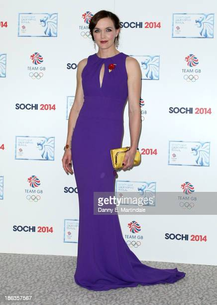 Victoria Pendleton attends the British Olympic Ball at The Dorchester on October 30 2013 in London England