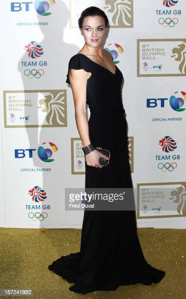 Victoria Pendleton attends the British Olympic Ball on November 30 2012 in London England