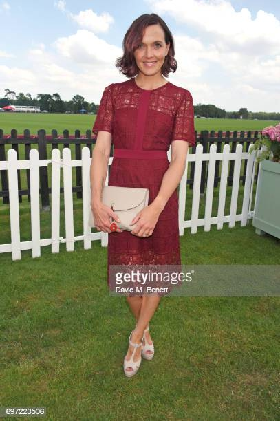 Victoria Pendleton attends the Cartier Queen's Cup Polo final at Guards Polo Club on June 18 2017 in Egham England