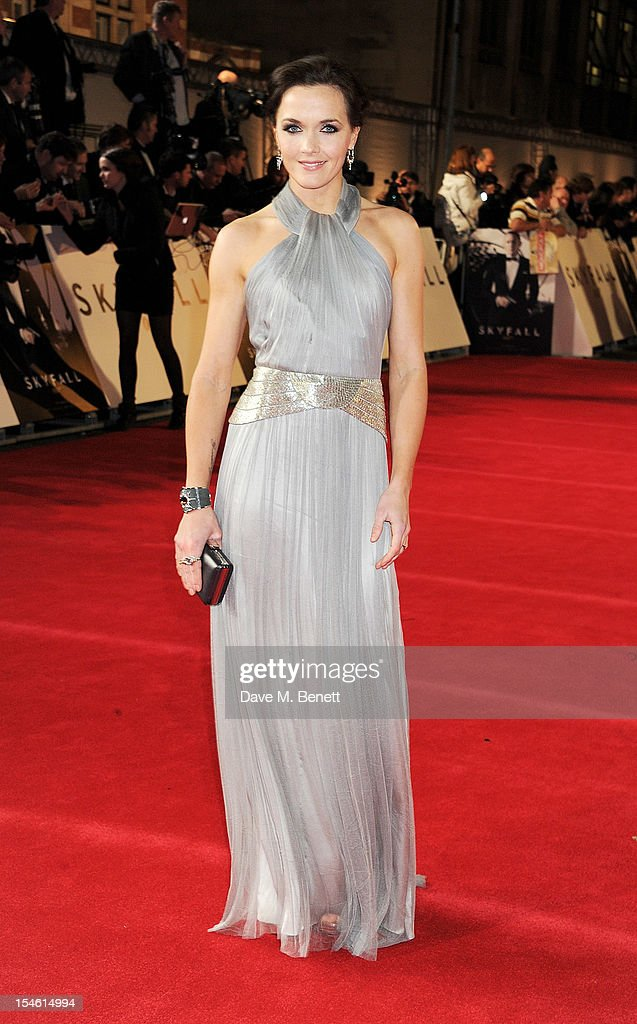 Victoria Pendleton attends the Royal World Premiere of 'Skyfall' at the Royal Albert Hall on October 23, 2012 in London, England.