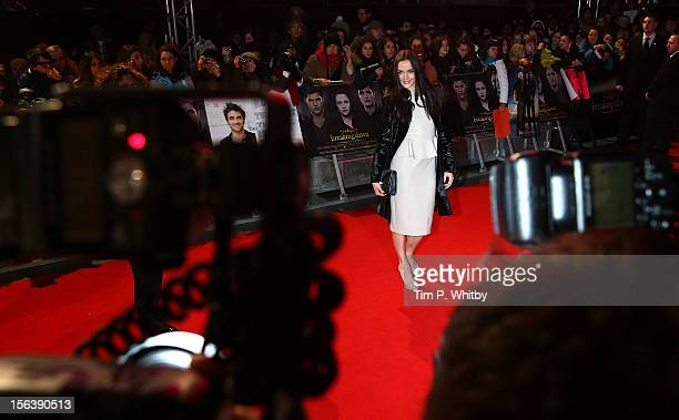 Victoria Pendleton attends the UK Premiere of 'The Twilight Saga Breaking Dawn Part 2' at Odeon Leicester Square on November 14 2012 in London England