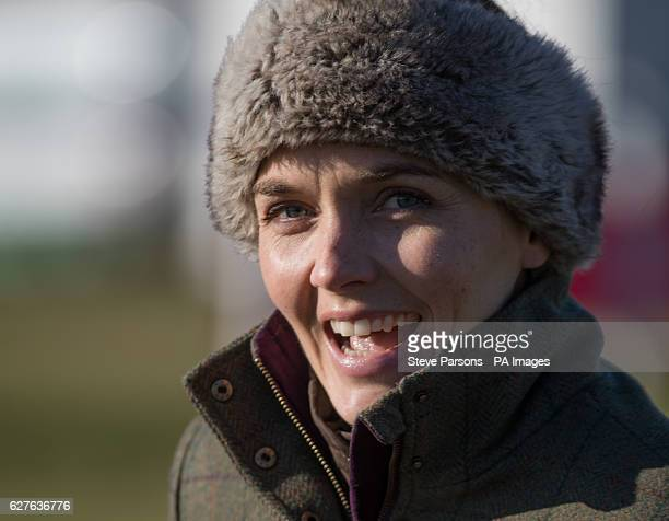 Victoria Pendleton during a pointtopoint meeting at Barbury Castle Race course Wiltshire