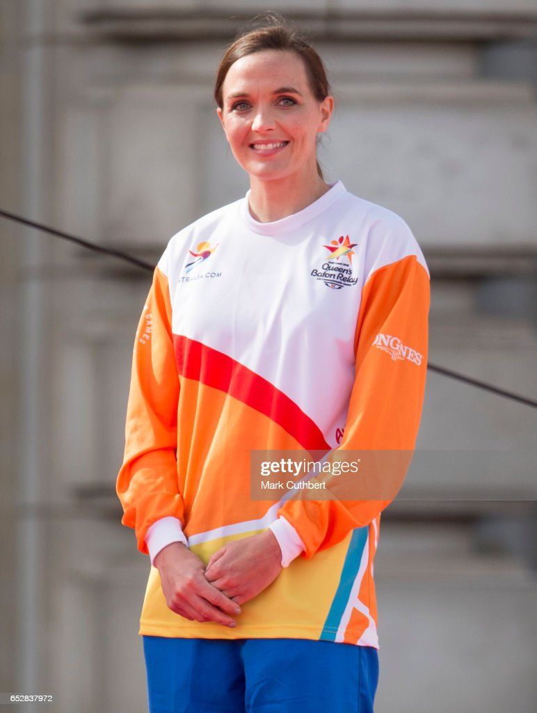 Victoria Pendleton during the launch of The Queen's Baton Relay for the XXI Commonwealth Games being held on the Gold Coast in 2018 at Buckingham Palace on March 13, 2017 in London, England.