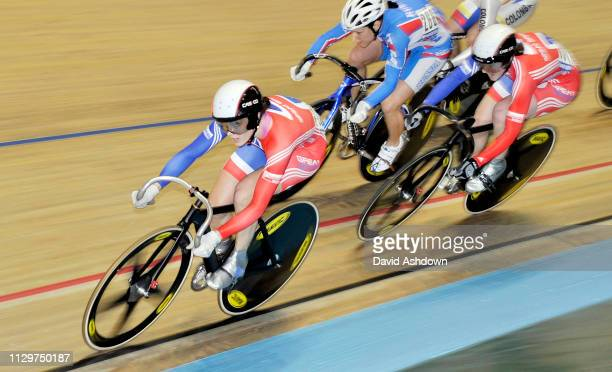 Victoria Pendleton In the Keirin during the UCI World Track Championships at the National cycling Centre in Manchester 19th June 2008