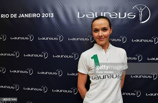Victoria Pendleton of Great Britain poses during day 2 of the 2013 Laureus World Sports Awards on March 9 2013 in Rio de Janeiro Brazil