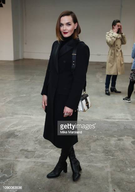 Victoria Pendleton on the front row of ETautz on January 05 2019 in London England