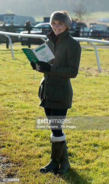 Victoria Pendleton poses for photographers during a pointtopoint meeting at Barbury Castle Race course Wiltshire PRESS ASSOCIATION Photo Picture date...