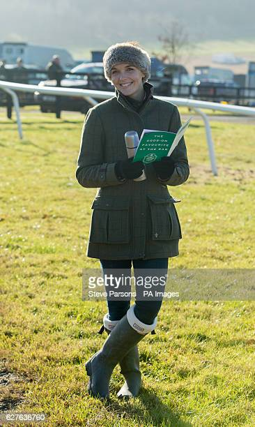 Victoria Pendleton poses for photographers during a pointtopoint meeting at Barbury Castle Race course Wiltshire